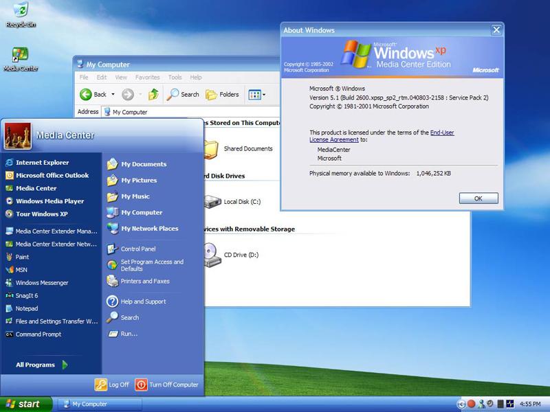 windows xp media center edition 2005 rus torrent