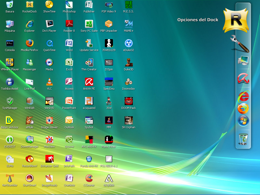 iconos pantalla: